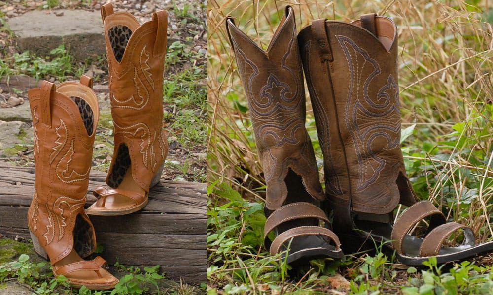 redneck sandals cowboy boot sandals