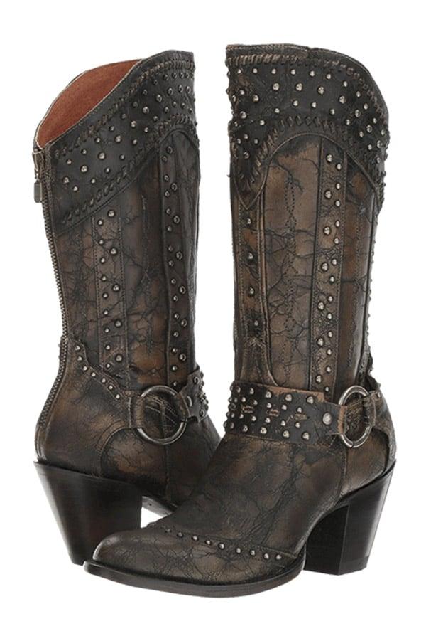 Black Clothing Western Fashion Cowgirl Magazine Dan Post Boots