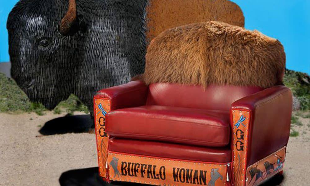 Ernie Apodaca Western Furniture Buffalo Chair Cowgirl Magazine