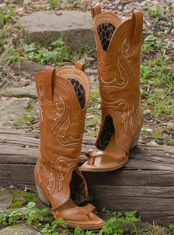 redneck sandals cowboy boots sandals flip flop style