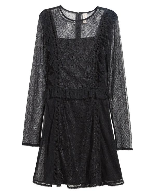 Black Clothing Western Fashion Cowgirl Magazine Sheer Dress