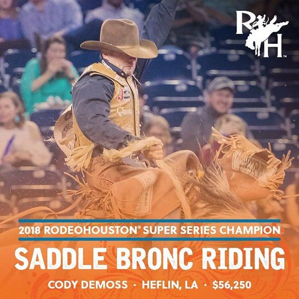 RODEOHOUSTON Super Series Championship Cowgirl Magazine Cody DeMoss