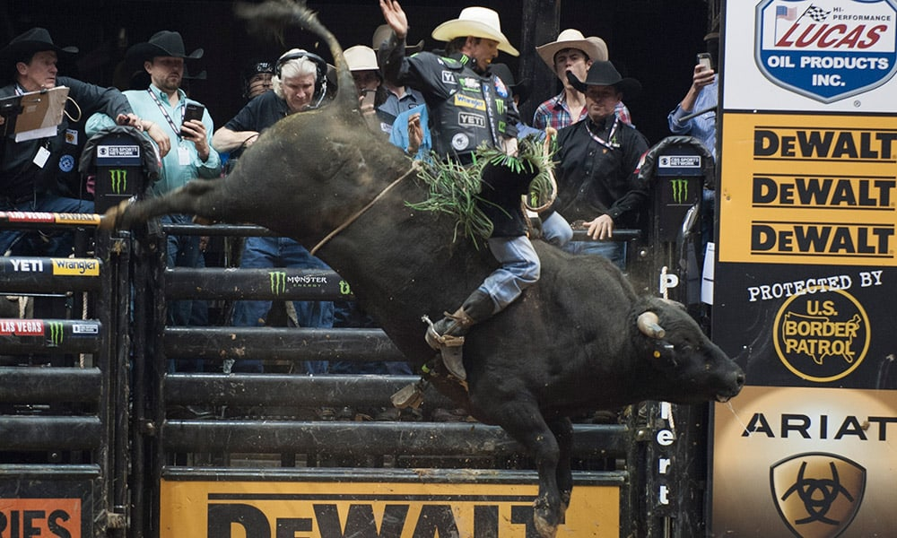 PBR Ak-Chin Invitational Bull Riders JB Mauney Cowgirl Magazine