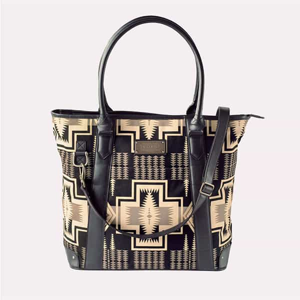 black white pendleton handbag