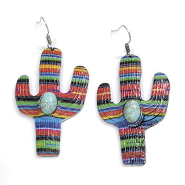 Serape Fashion Cowgirl Magazine Earrings