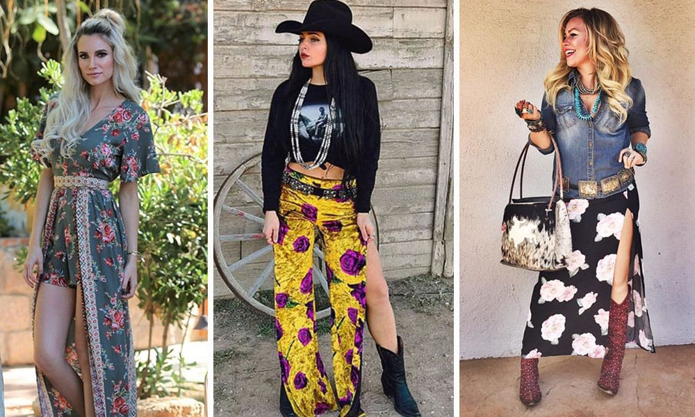 Spring western fashion trend floral prints