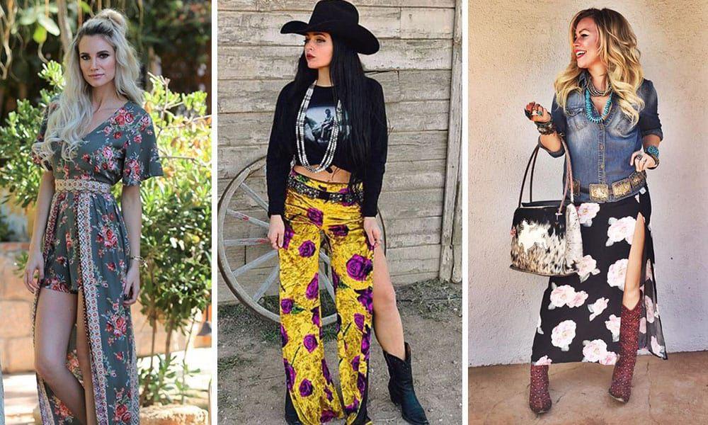 Spring western fashion trend floral prints