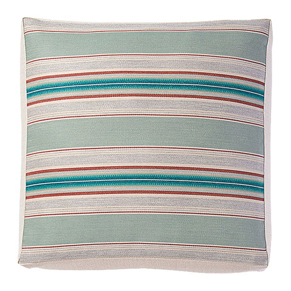 striped blue orange cushion pillow sunbrella pendleton