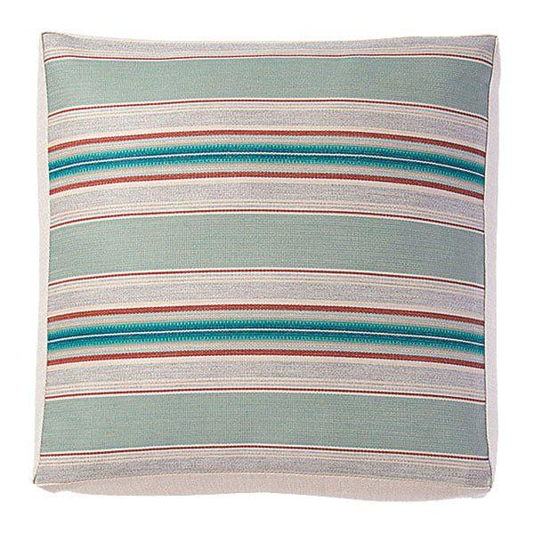 striped blue orange cushion pillow sunbrella pendleton