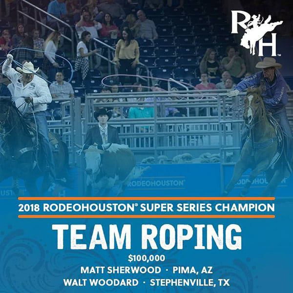RODEOHOUSTON Super Series Championship Cowgirl Magazine Team Roping