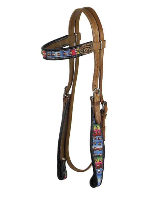 serape horse tack cowgirl magazine headstall