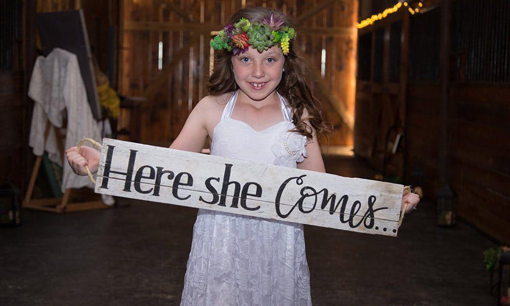 barn wedding country wedding flower girl wedding photography