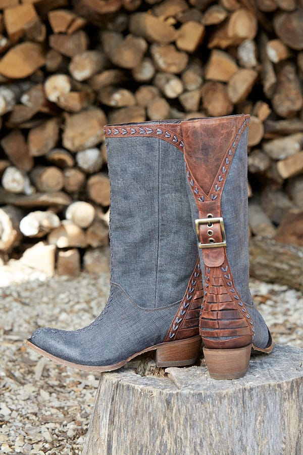 Lane Boots Patina Vie Coachella Nightfall blue western boots