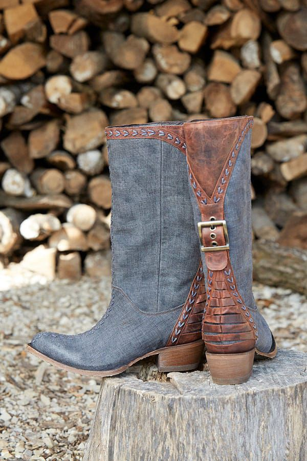 Lane Boots Patina Vie Coachella Nightfall blue western boots