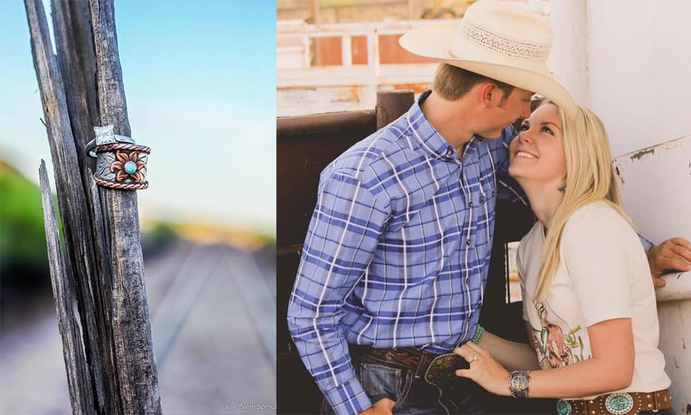 jackie ganter jim breck bean janna bean jana bean engagement wedding cowgirl wedding western wedding cowgirl magazine