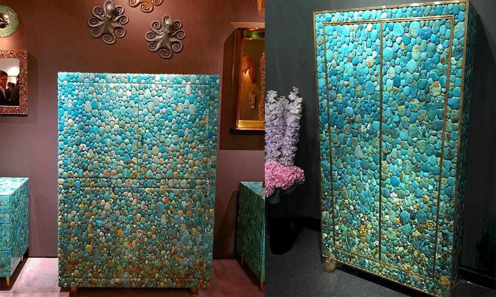 jeweled furniture turquoise gem gems gemstones cowgirl magazine