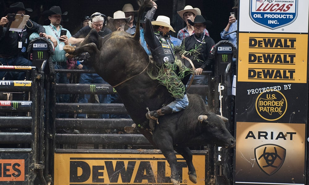 JB Mauney PBR Last Cowboy Standing Bull Riding Photo by Ken Amorosano Cowgirl Magazine