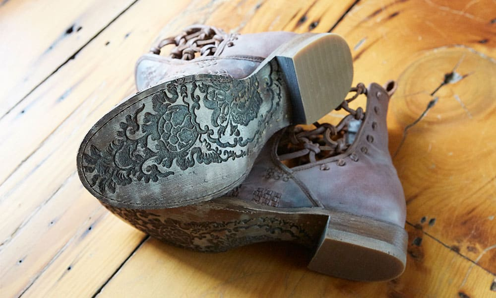 Lane Boots Patina Vie Collection boot sole detail