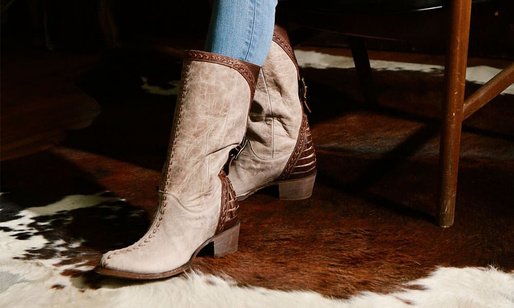 Lane Boots Patina Vie Coachella brown leather boots