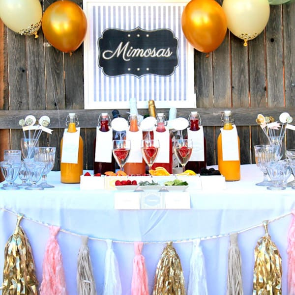 Wedding Mimosa Bar Cowgirl Magazine