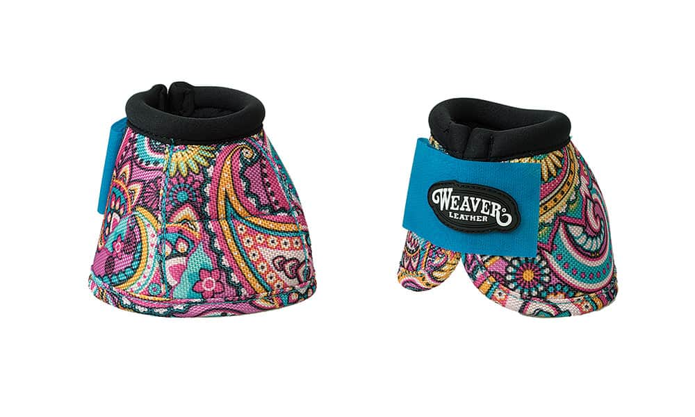 Weaver Prodigy® Patterned Ballistic No-Turn Bell Boots in Paisley