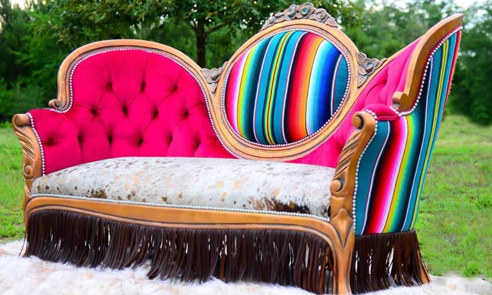 desert canary designs serape couch victorian couch serape victorian couch home decor western home furnishings cowgirl magazine