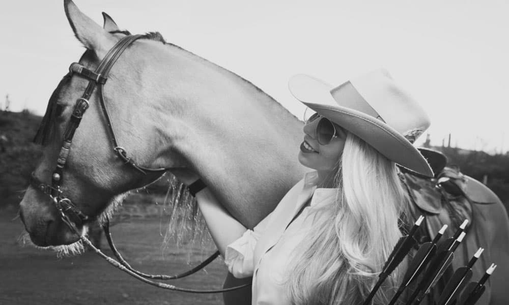 """Cowgirl Magazine"" - Arrows Horseback"