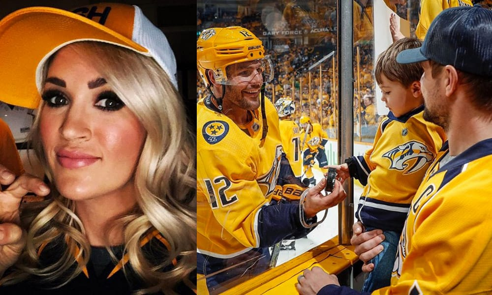 Carrie Underwood Country Singer Hockey Game National Anthem Cowgirl Magazine