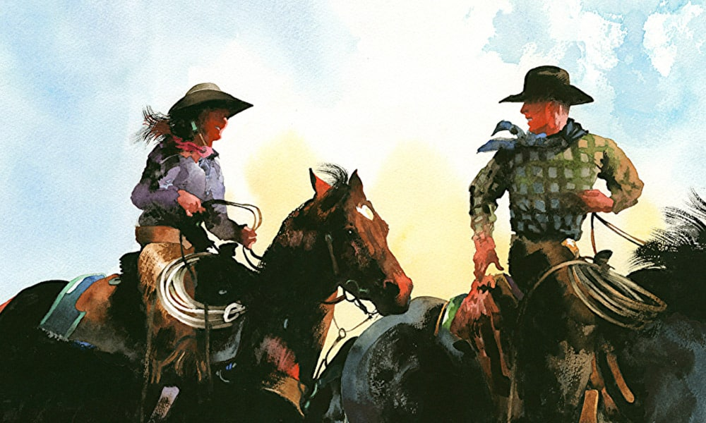 Don Weller Cowboy Artist Western Paintings Cowgirl Magazine