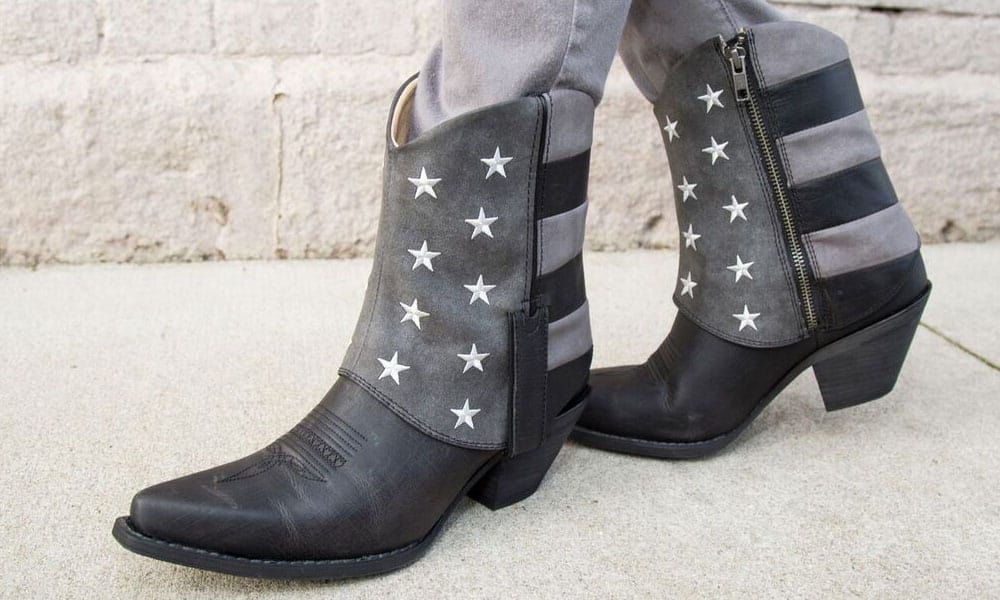 crush black flag fold over bootie by durango boots