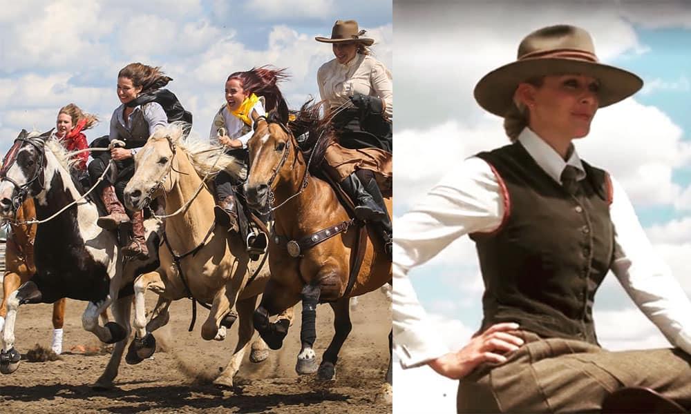 Calgary sidesaddle racers Calgary sidesaddle racing cowgirl magazine