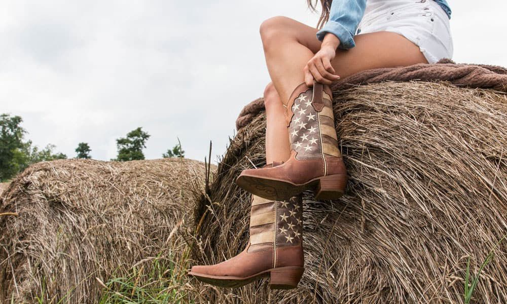 durango boots crush distressed flag boot women