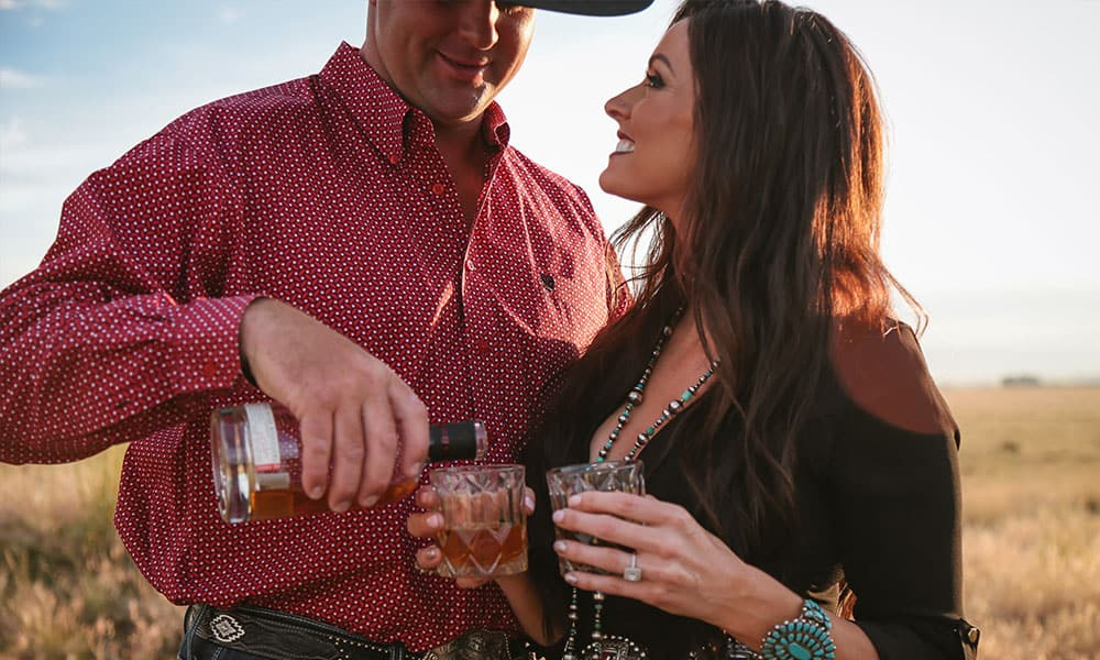 Serape, Storms, And Wide Open Spaces cowgirl magazine engagement photography