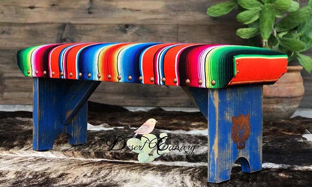 Beautiful Benches For Your College Graduate cowgirl magazine desert canary designs