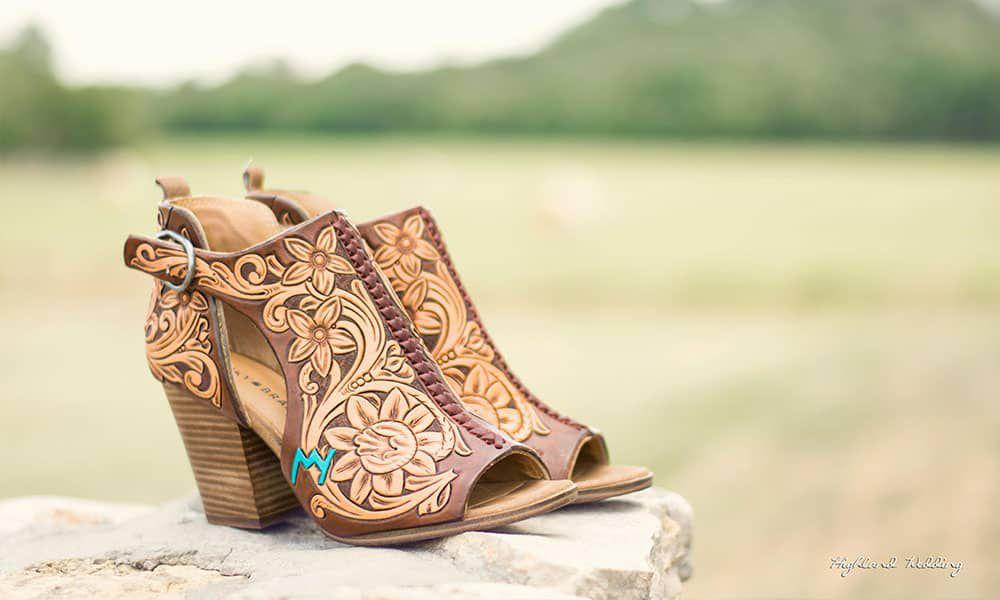 next level Jason Becker custom leather wedding shoes tooled leather cowgirl magazine