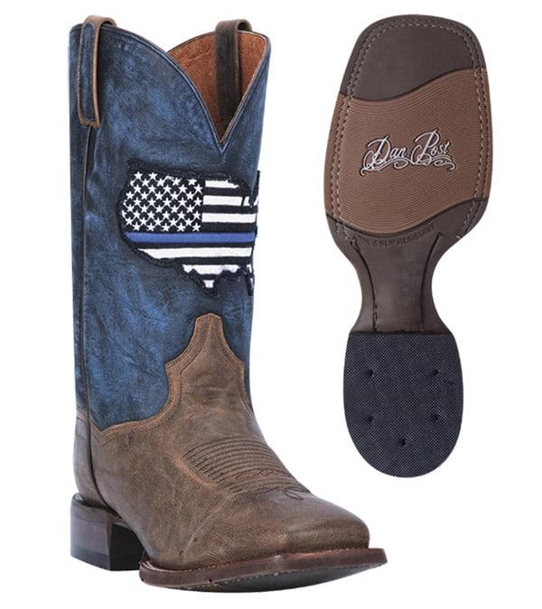 Dan Post Thin Blue Line Boot Cowgirl Magazine