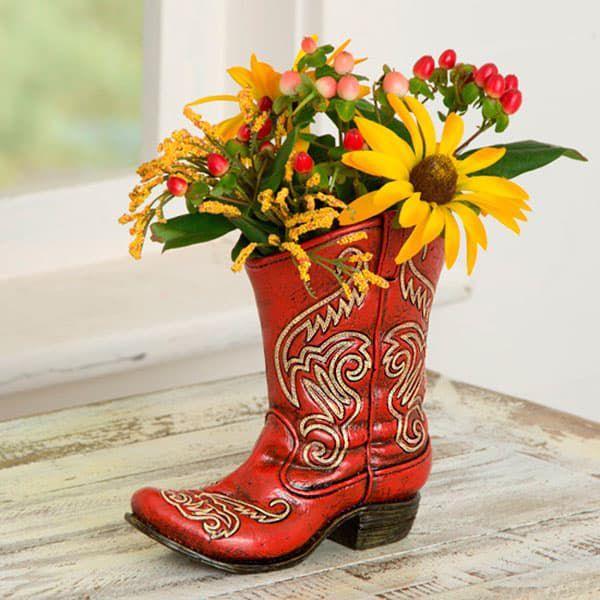 Boot Vases Cowgirl Magazine