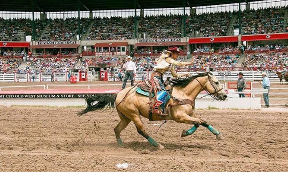 Keri Sheffield miss rodeo america Cheyenne Frontier Days Cowgirl Magazine