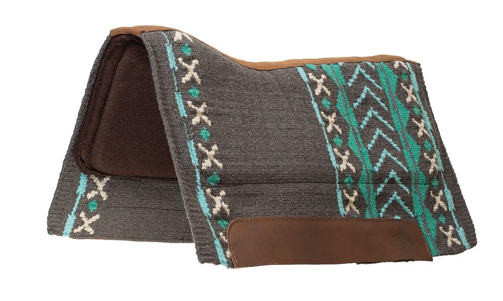 weaver leather synergy saddle pad turquoise charcoal