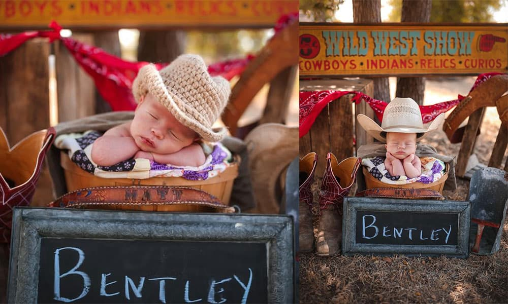 newborn cowboy mama's let your babies grow up to be cowboys cowgirl magazine american hat company