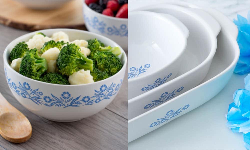 blue cornflower corningware bake ware cowgirl magazine