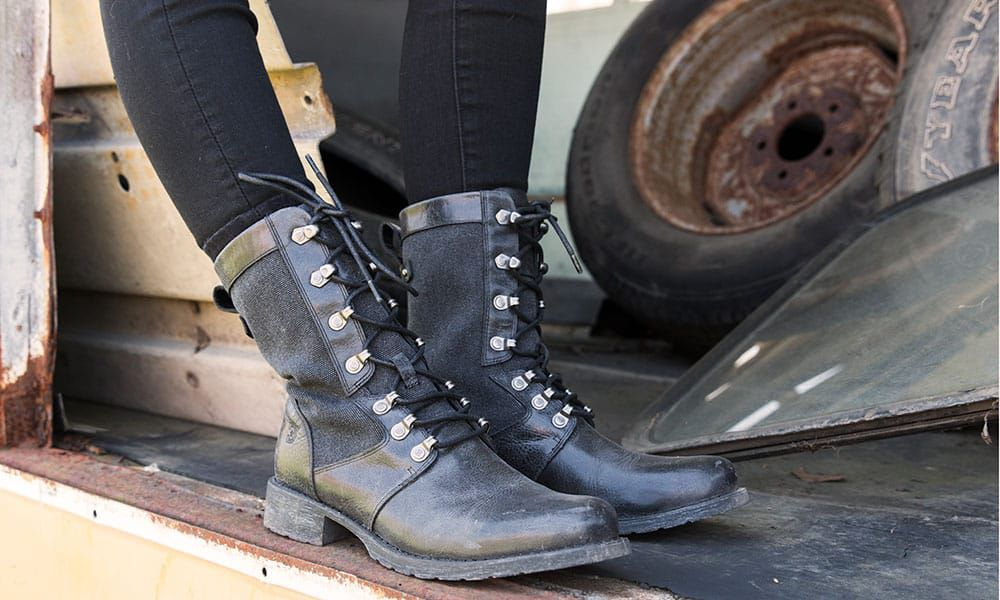 durango boots black drifter lace up military style boots