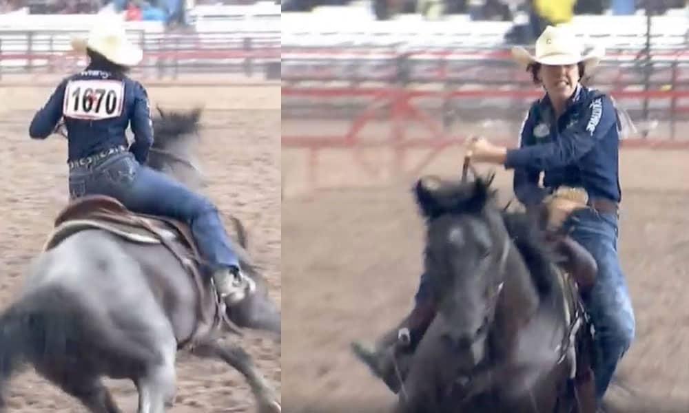 Nellie Miller Barrel Racing Cheyenne Frontier Days Cowgirl Magazine