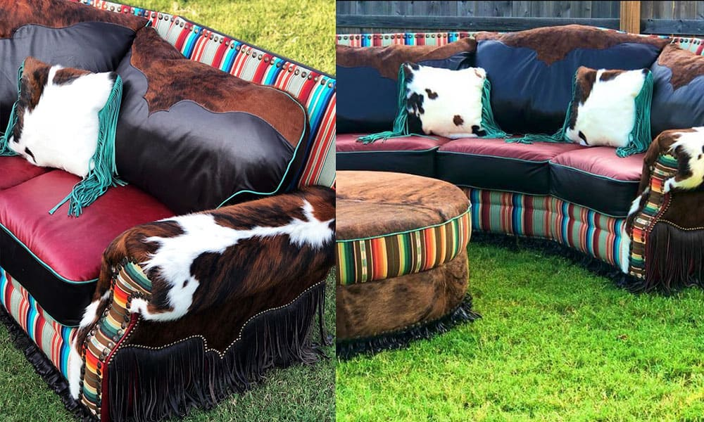 Red Dirt Revivals Showcases Serape With The Mother Of All Couches cowgirl magazine