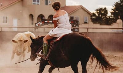 cutting up wedding day bride bridal cowgirl magazine