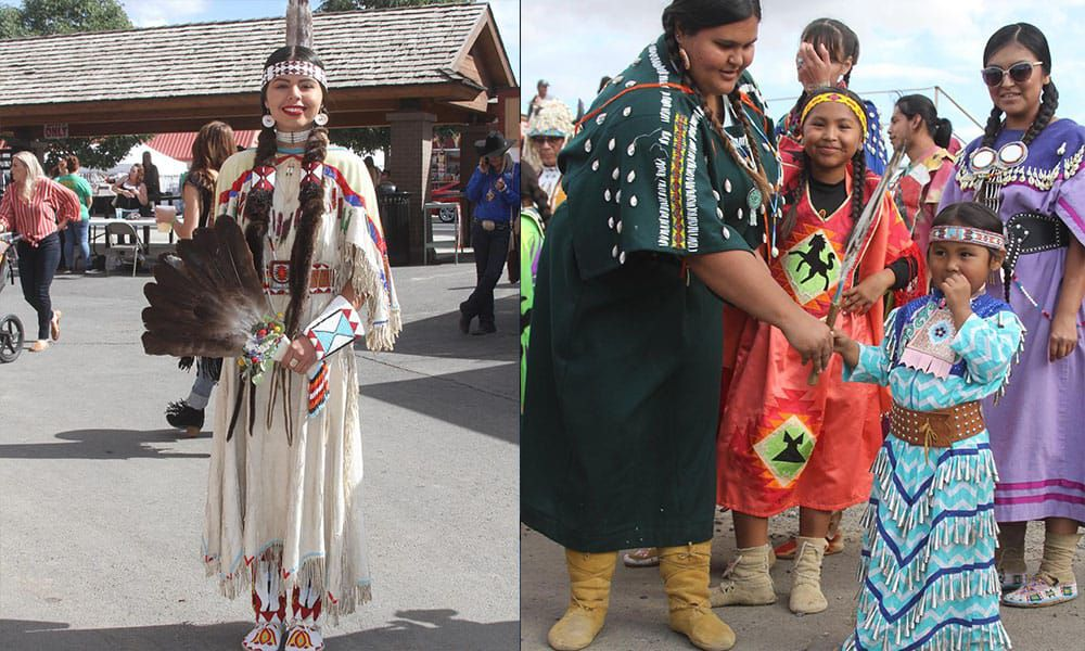 native fashion from the Pendleton roundup cowgirl magazine