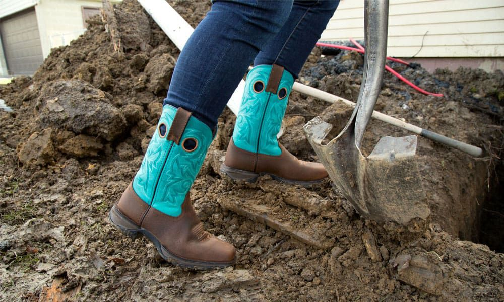durango boots lady rebel work boot collection blue cowboy boots