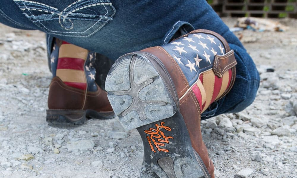 durango boots lady rebel work boot collection american flag cowboy boots sole