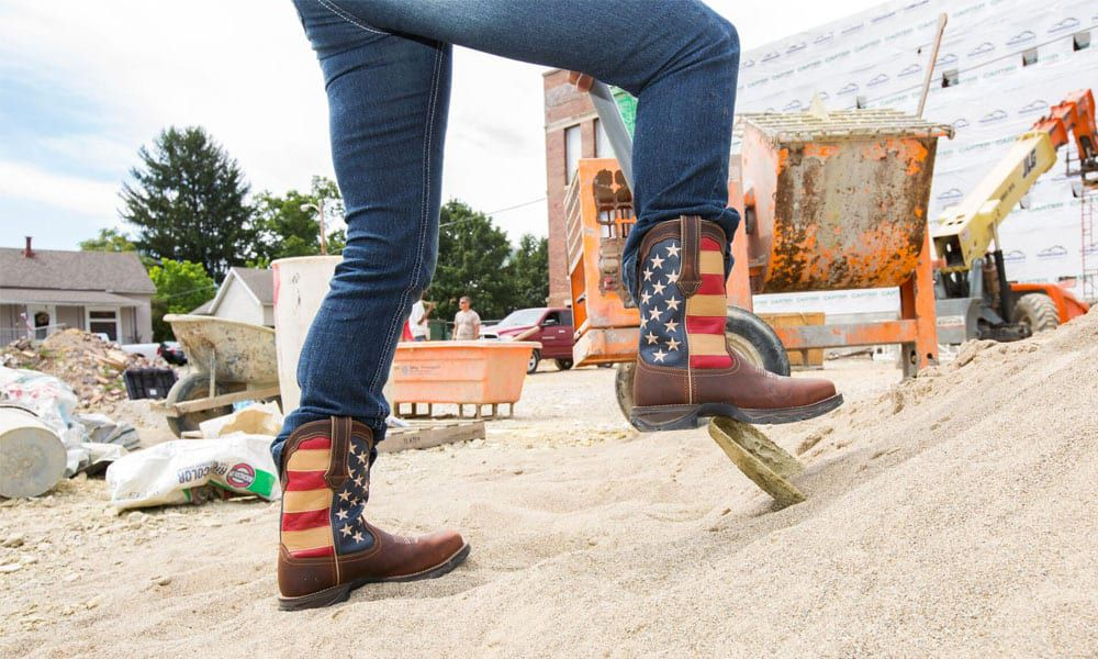 durango boots lady rebel work boot collection american flag cowboy boots