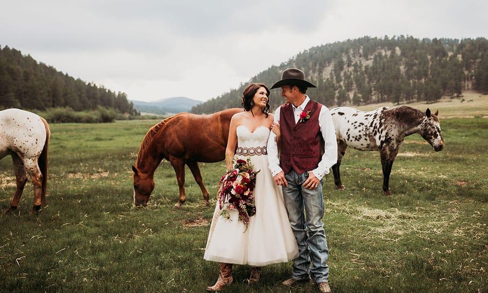 western cowgirl wedding shoot cowgirl magazine